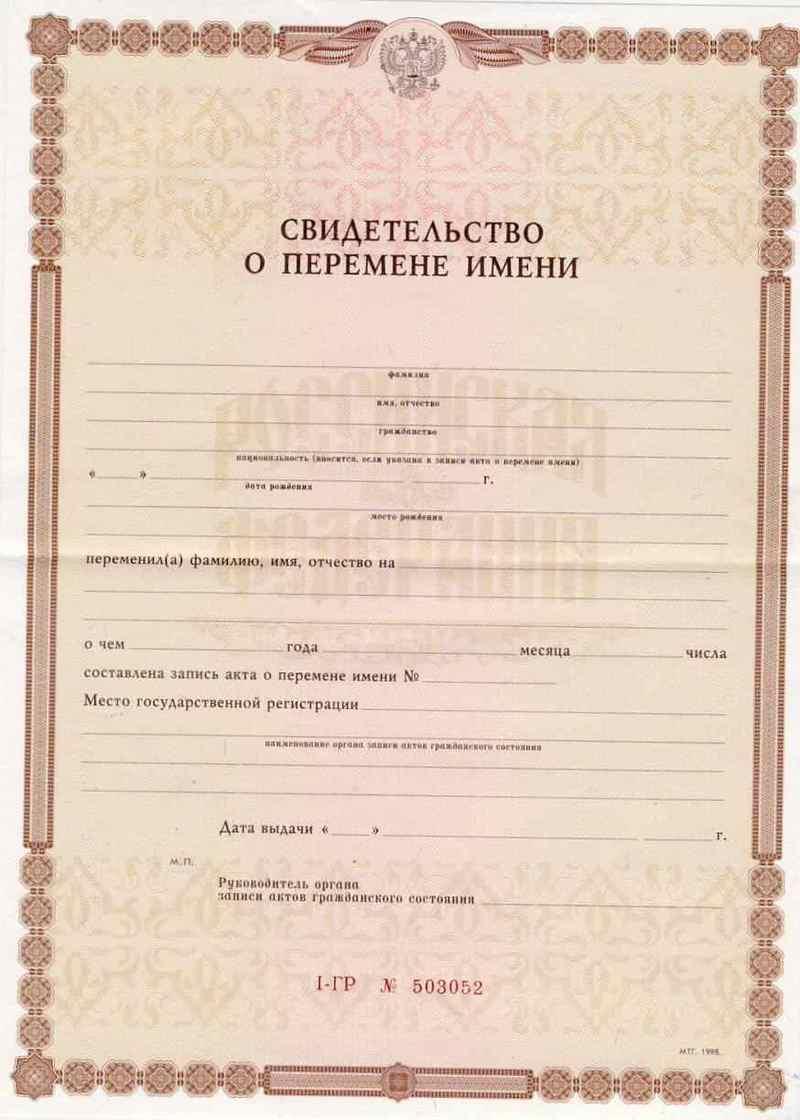 Смена фамилии после развода документы сроки