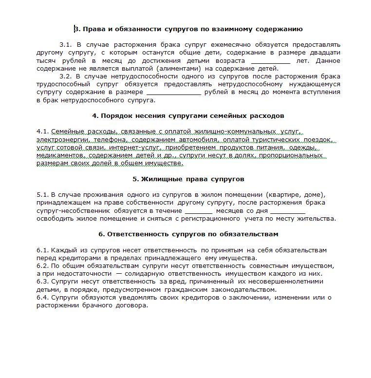 образец брачного договора на имущество приобретенное до брака - фото 4